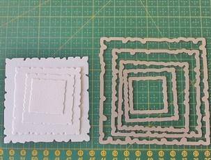 Square, Scrapbooking, metalcuttingdie, Frame