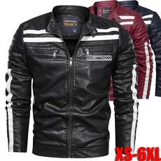 Fashion, motorcyclejacket, men leather jackets, slim