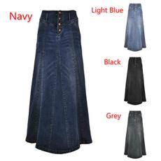 long skirt, Plus Size, Spring/Autumn, sewingthread