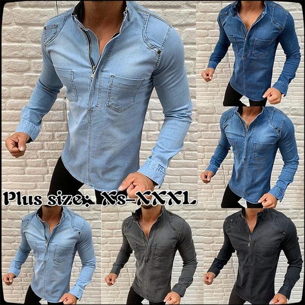 Plus Size, Shirt, Long Sleeve, Coat