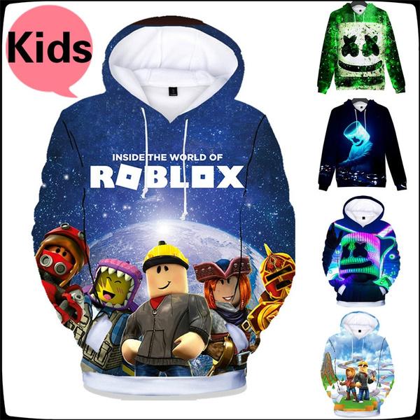 New Jersey Roblox New Children Hooded Shirt Printing Marshmello Dj Music Hoodies Sweater Kids Roblox Game Sweatshirt Wish