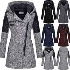 woolen, hooded, Winter, Coat
