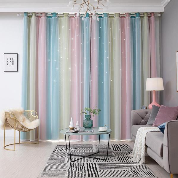 Polyester, curtainwithyarn, Star, Home Decor