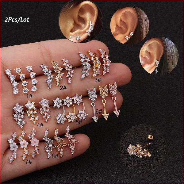 helixcartilage, Steel, Stud, earpiercing