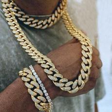 Steel, Chain Necklace, DIAMOND, Joyería de pavo reales