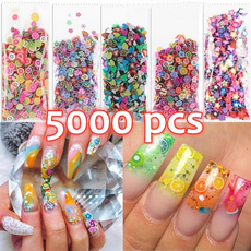 polymer, nail stickers, Flowers, manicure