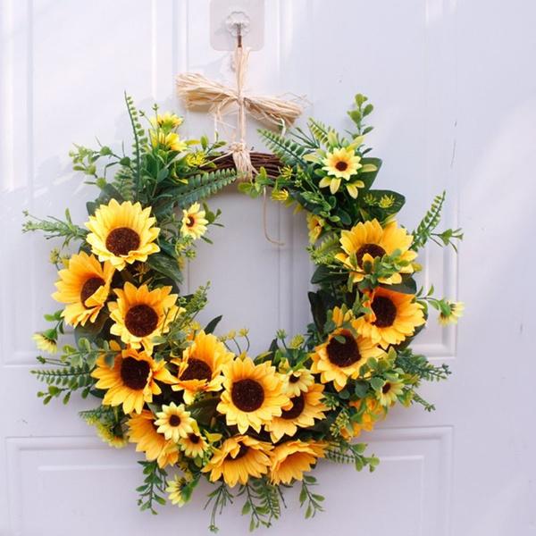 artificialsunflower, thanksgivingdecor, Decor, Door