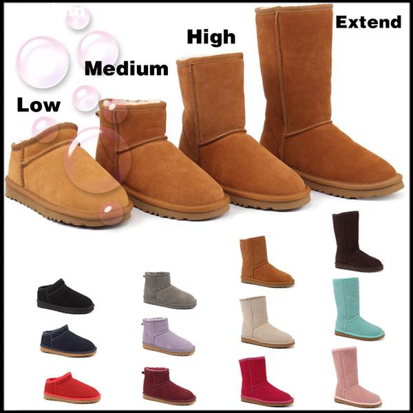 Plus Size, Classics, button, boots for women