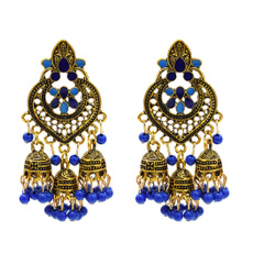 Fashion, vintage earrings, Bell, gold