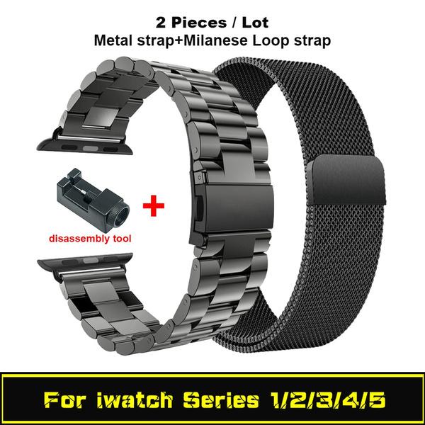 Steel, Stainless, watchbandstrapforapplewatch, Jewelry