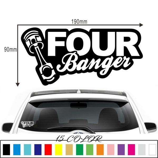Low Rider Dachshund Funny Car Window Bumper Stickers Decal JDM DUB Scene EURO