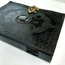 Diary, sketchbook, black, eye