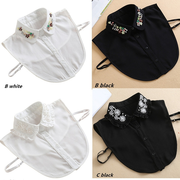 DIAMOND, halfshirt, detachablecollar, Dress