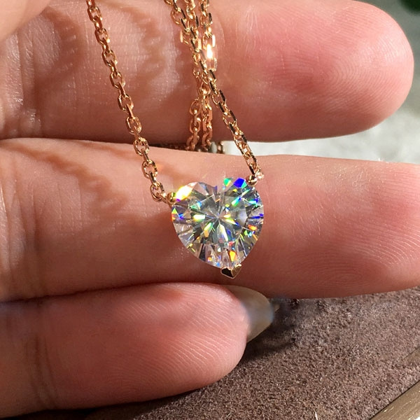 Heart, Diamond Necklace, gold, women necklace