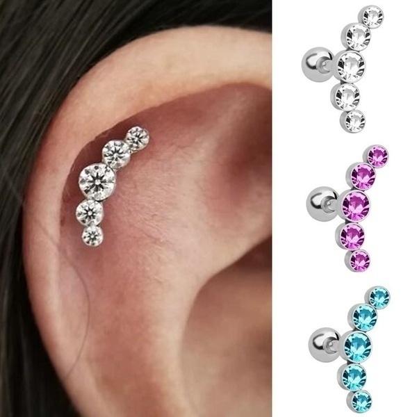 helixcartilage, Steel, Jewelry, Crystal