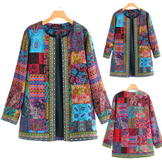 Plus Size, Floral, Winter, Ethnic Style