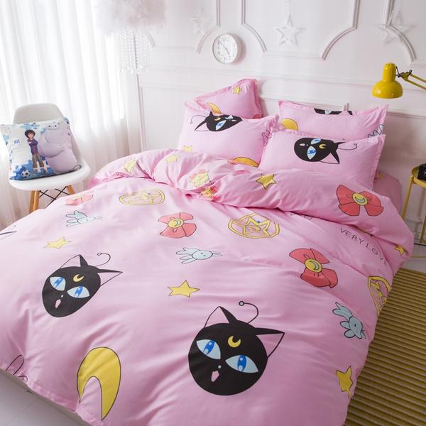 Sailor Moon Bedding Set Duvet Cover, Sailor Moon Bedding Queen