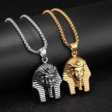 Head, Jewelry, Chain, Egyptian