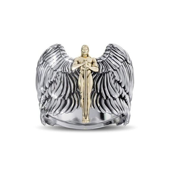 archangelring, creativering, 925 silver rings, 18k gold ring