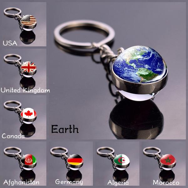 glassballpendant, Canada, flagkeychain, worldflag