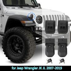 engine, jeepjl, wrangler, hoodcoverlock