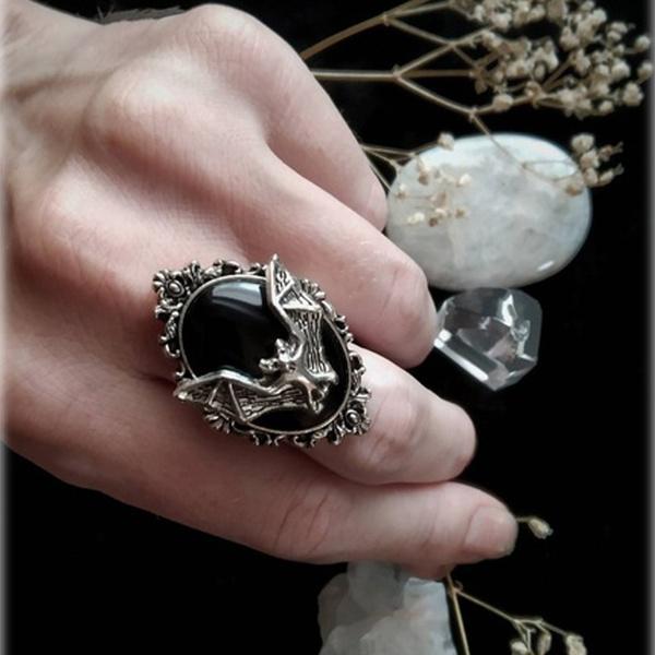 men_rings, Goth, Jewelry, retro ring