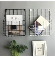 wallmountedpoststoragerackorganizer, Magazine, Baskets, modernwiremagazinenewspaperbasket