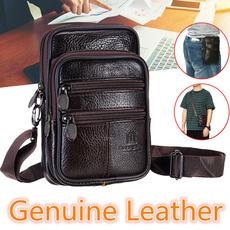 Shoulder Bags, Waist, Bags, genuine leather