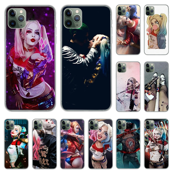 Suicide Squad Harley Quinn Phone Case Joker Covers for IPhone 11 Pro Max 8 Plus 7 Plus 6S 5S SE Plus X XS MAX XR Coque Concha and Samsung Galaxy S6 ...