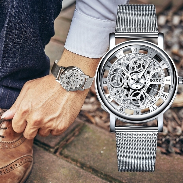 Fashion, business watch, Watch, Stainless Steel