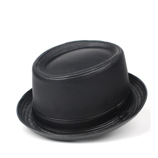 Pie, Fashion, Fedora, leather