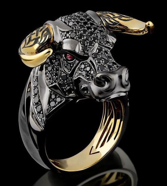 goldplated, Head, DIAMOND, Jewelry