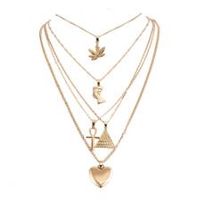 Heart, pyramid, Jewelry, Chain