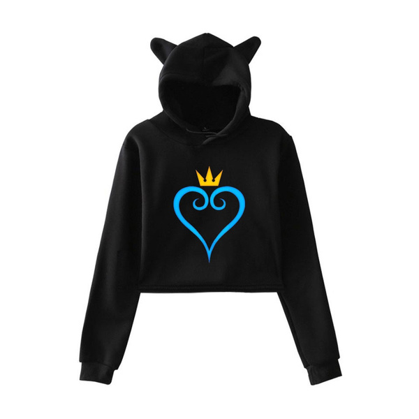 Heart, kingdomheartshoodie, women crop top, Sleeve