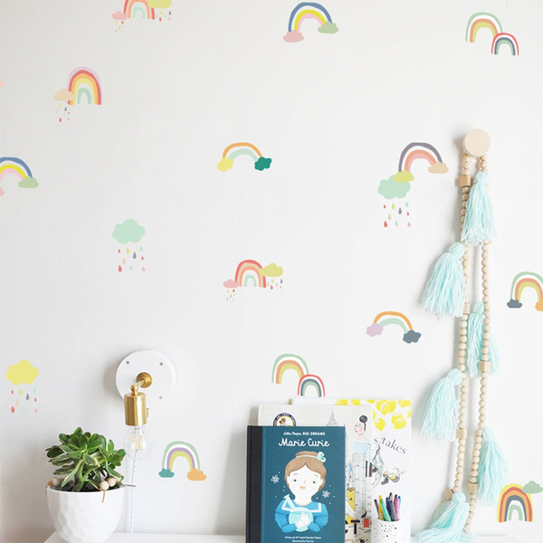 rainbow, Decor, bedroomwalldecal, Stickers