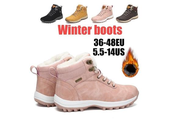 Herren Winter Warm Snow Ankle Boots Plüsch Gefüttert Slip On Thicken Schuhe