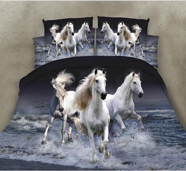 King, horse, 3danimalbedding, Colorful
