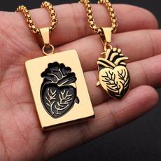 Steel, Heart, Jewelry, Gifts