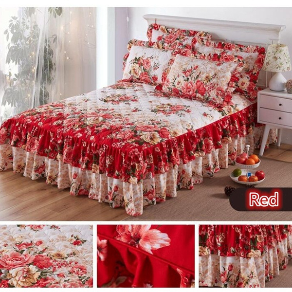 Fashion, ruffled, gold, Bedding