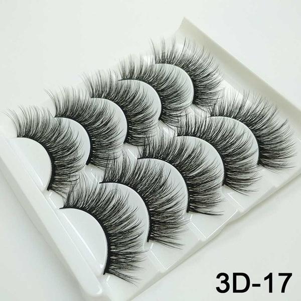 Eyelashes, Beauty tools, Beauty, 5pairseyelashe