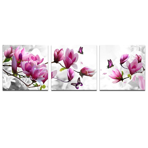pink, canvasart, Flowers, art