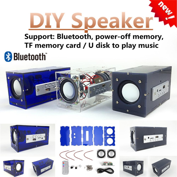for Nature Sound Mini Bluetooth Speaker DIY Kit MP3 Music Pack Stereo Sound 3W Stereo Remote Control Soundbar for Party//Home Entertainment Tosuny Subwoofer Power Amplifier Clear