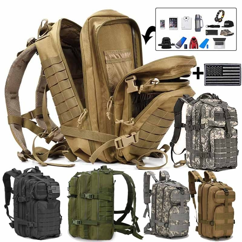 Men Outdoor Sport Camping Hiking Trekking Bag Military Tactical Backpack GG