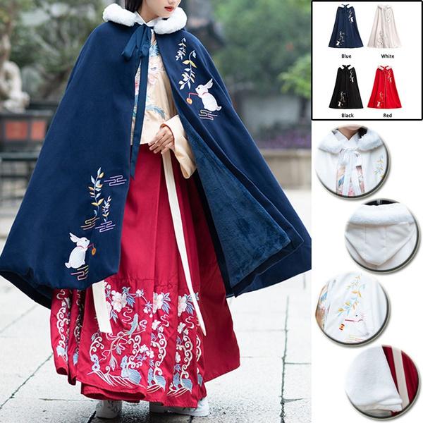 Hanfu Women/'s Cloak Capes Coats 17 Color Ancient Costume Overcoat Cosplay Jacket