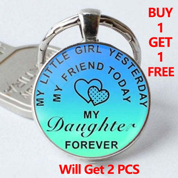 buy 1 get 1 free, Key Chain, Gifts, mydaughterforever