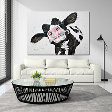 Modern, paintingdecoration, cow, Posters