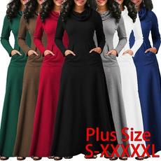 hooded, Winter, long dress, Dress