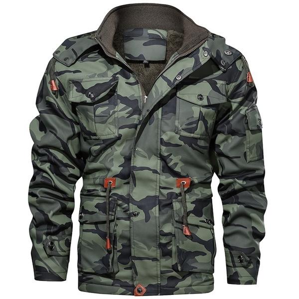 Casual Jackets, Fashion, militarytacticaljacket, warmthickened