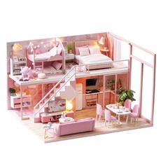 pink, Wood, casinhadeboneca, lofts