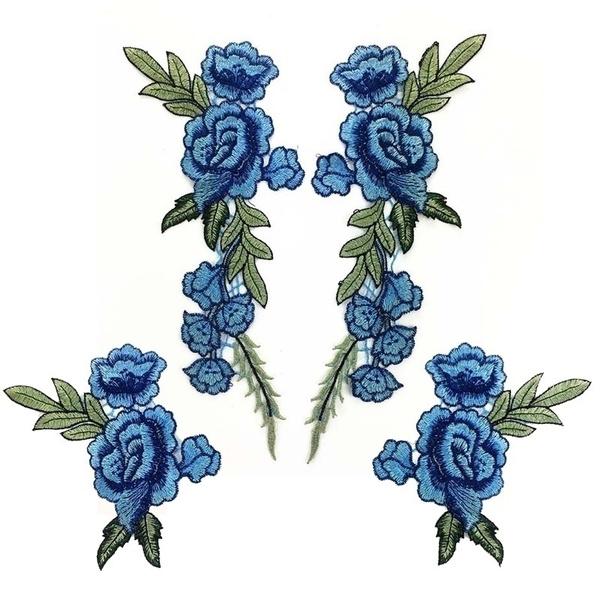 Blues, Flowers, patchsticker, flowerpatch